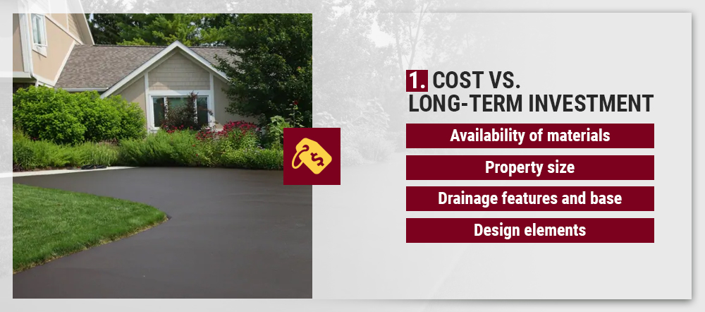 Consider the cost vs. long-term investment of your driveway