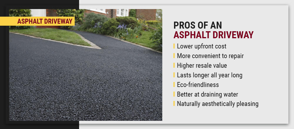 Pros and cons of an asphalt driveway