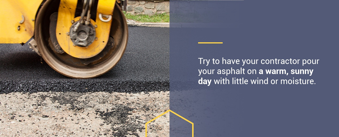 Best Weather to Pave Your Driveway